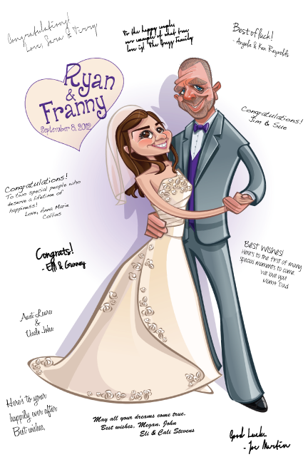 Wedding Packages Caricature And Illustration By Chris Moore
